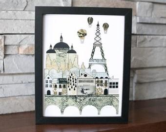 Eiffel Tower Print Paris Print