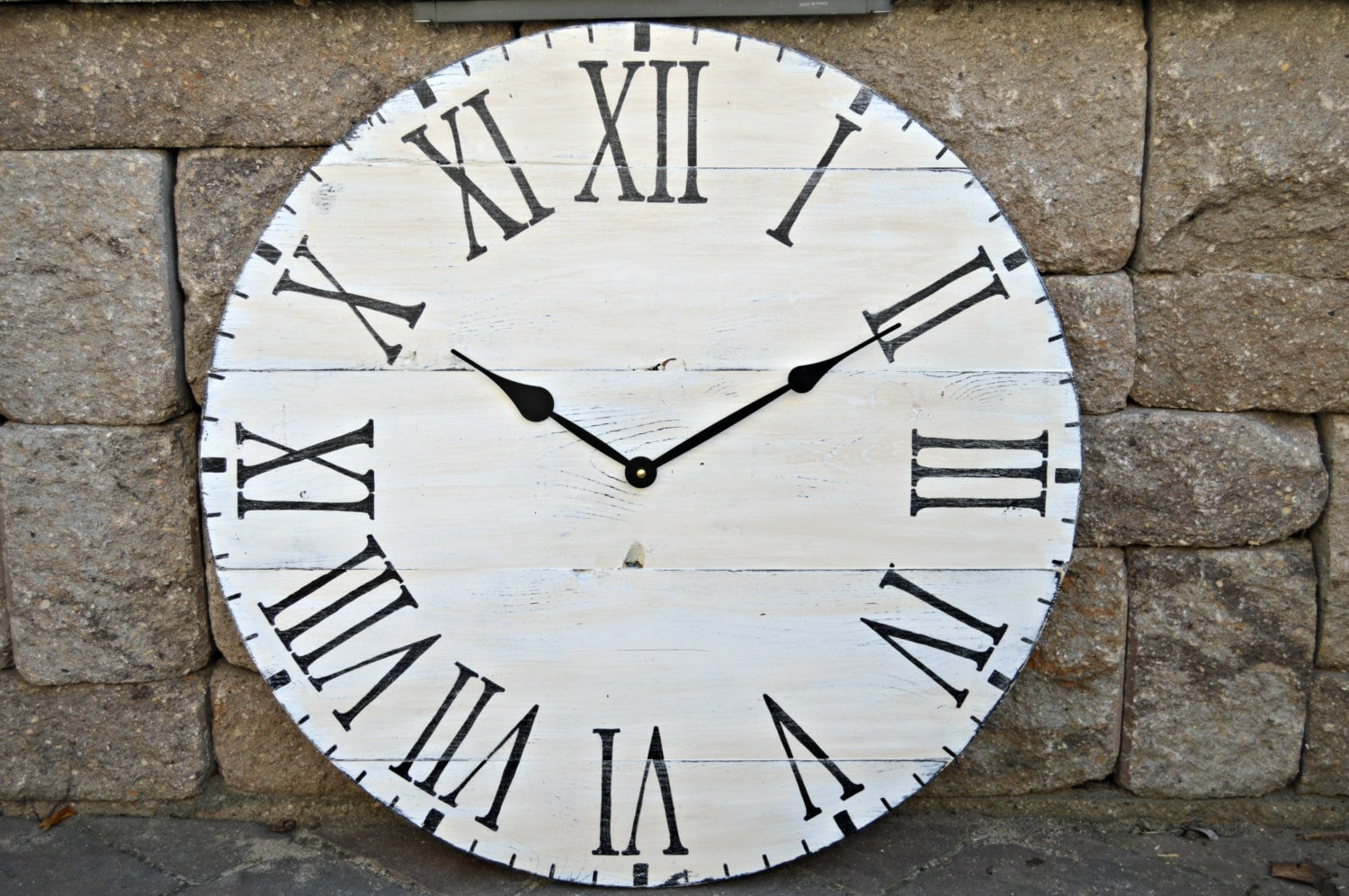 20 Large Oversized Distressed Wood Wall Clock Rustic