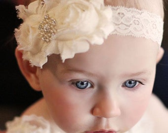 Shabby Chic Lace Baby Toddler Headband