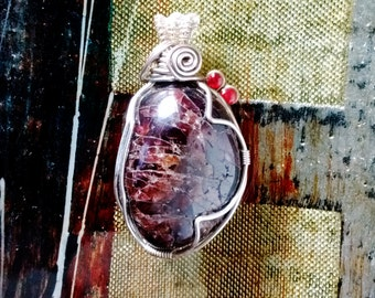 Mineral Garnet Pendant