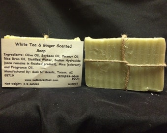 White Tea and Ginger Scented Soap