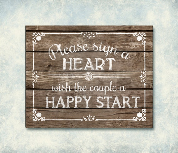 please sign a heart wooden printable wedding by