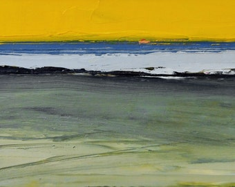 SUN SEA SHORE, Anglesey. Original Oil Landscape Painting.