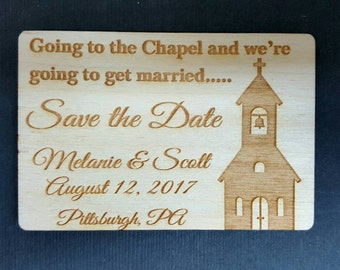 Wedding Favor Magnets, Going to the Chapel. Church Wedding, Save the Date Magnets, Bride, Groom,