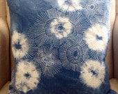 Japanese Shibori Pillow ~