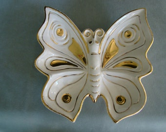 Ceramic Butterfly Dish or Ashtray