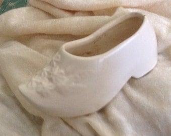 Vintage Ceramic Dutch Shoe Planter