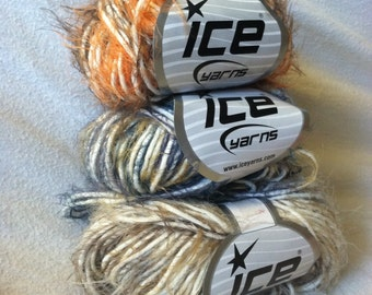 Ice Yarns Destash Lot of 3 Eyelash Blends