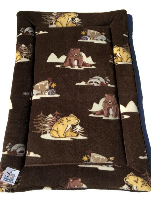 Woodland Critters Pet Bed Black Bear Gifts Dog Crate Pad