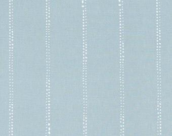Loft Blue Minimalist Stripe Fabric by the Yard Designer Cotton Home Decor Fabric Drapery Fabric Curtain Fabric or Upholstery Fabric B378