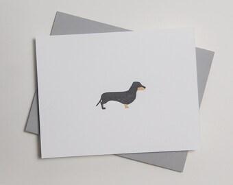 Herman - Dachshund - Letterpress Dog Card