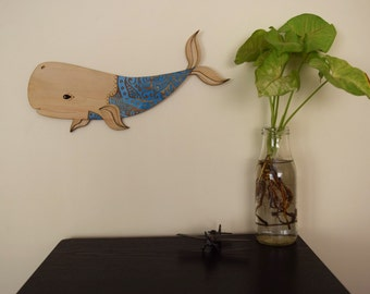 Whale Wooden Wall Art