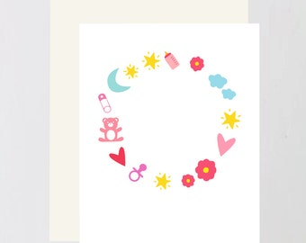 Baby print Greeting Card
