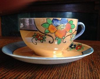 Noritake Lustreware Cup & Saucer