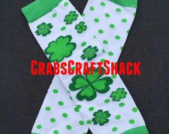 Baby Legwarmers - St Patricks Day, Clovers  (4002)