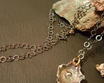 Original Oyster With A Pearl with chain Pendant Necklace
