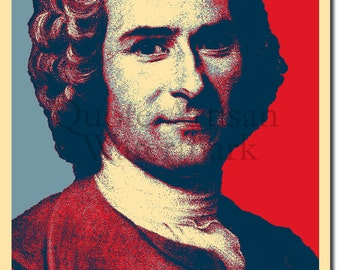 Jean Jacques Rousseau Original Art Print - Photo Poster Gift