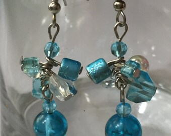 Turquoise Cluster Dangle