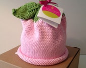Baby Sprouts Knitted Newborn Baby Hat, Fruit Collection, Best Baby Gift, Hand-Knit, Cotton