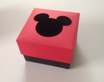 Mickey Mouse Inspired Set of 12 Party Favors Boxes Treats Container Candy Table