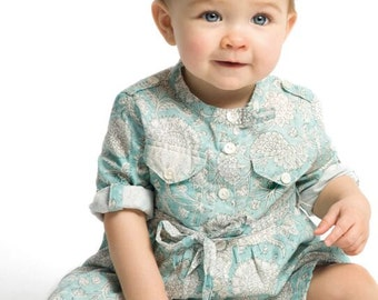 Baby boy blue print dress