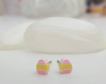Angel Cake Stud Earrings