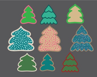 Christmas tree clipart, Christmas trees, Christmas tree clipart, Christmas clipart, Christmas Clip Art, Christmas tags, commercial use