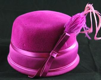 Vintage 1960's Pink Felt Hat