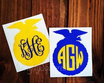 Future Farmers of America FFA Emblem Monogram