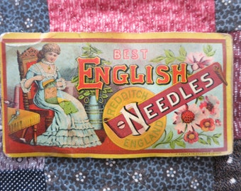 "Antique Needle Packet ""English Needles"""