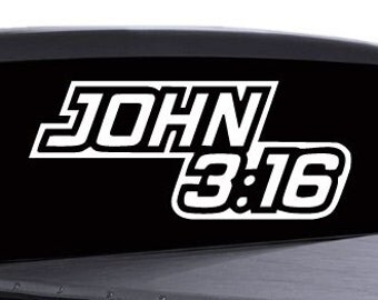 John 3:16 Sticker - Multiple Colors Available - rel3 (21)