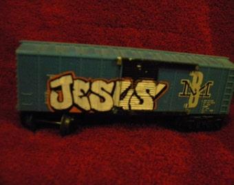 "Custom ""Jesus"" Graffiti Freight Model"