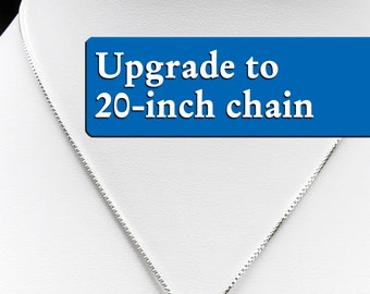 Upgrade to 20-inch chain - For Patron Saint Necklaces in My Shop