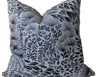 """Robert Allen """"Hanabi"""" Ink, Same Fabric both sides pillow cover"""