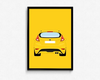 Ford Fiesta ST A3 Print