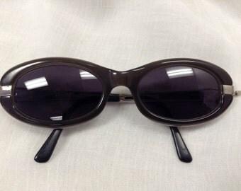 Lanvin Vintage Grey Signature Cat Eye Sunglasses