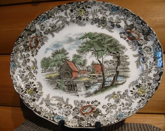 "Johnson Brothers ""Old Mill"" Platter, England"