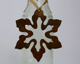 Snowflake Wine Bottle Charm