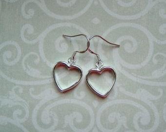 Heart Earrings 925 sterling silver