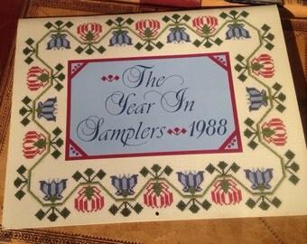 The Year in Samplers Calendar 1988 -  13 Delightful Photographs of Samplers