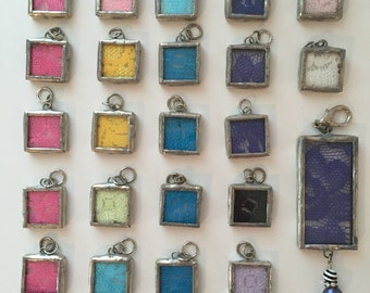 Set of 23, Soldered Charms, Soldered Pendant, Soldered Glass Pendant, Wholesale, Jewelry Lot