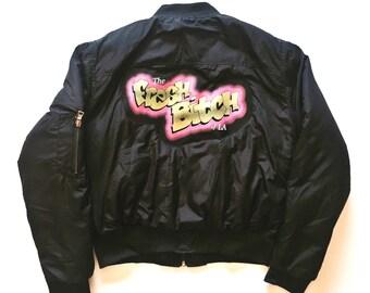"""Creature of Habit- """"Fresh af"""" Bomber jacket"""