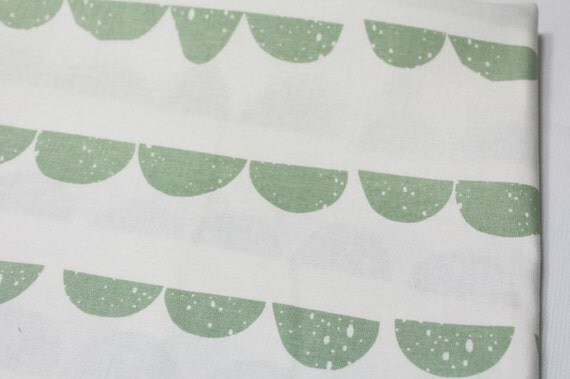 Half moon pattern cotton fabric by yard 2 color for Moon pattern fabric