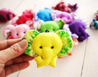 ELEPHANT Set 10 - Elephant keychains, Elephant keychain, Animal keychain, Fabric keychain, Stuffed elephant, Key ring, Gift