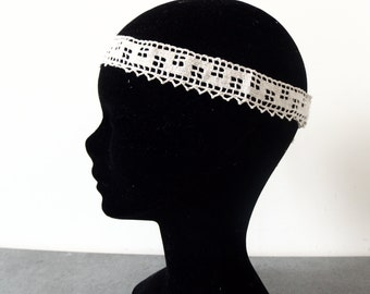 Headband serrated retro wedding