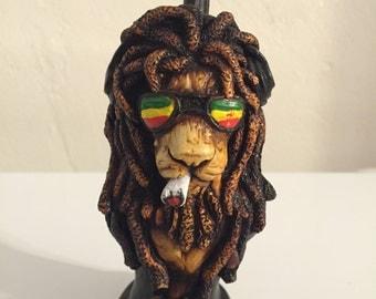 Tobacco Hand Made Pipe, Rasta Lion Design