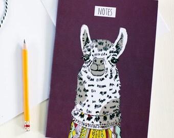 Curious Llama Illustrated Notebook