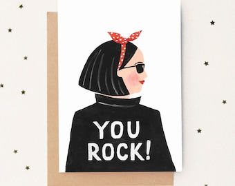 You Rock! Friendship Card