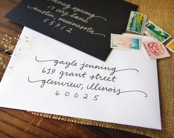 Wedding Envelope Calligraphy | Envelope Addressing | Handwritten Envelope Addressing | Handwritten Calligraphy - Gayla Style
