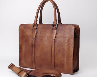 New Briefcase,Gifts For Mens,Leather Briefcase,15 inch laptop bag,Mens Briefcase,Cross Body Bag,Laptop Bag,Leather Briefcase, Satchel